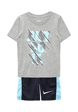 e9512f95d50da Nike Just Do It pour bébé garçon Tee Shirt et Short Ensemble Deux pièces  Gris foncé