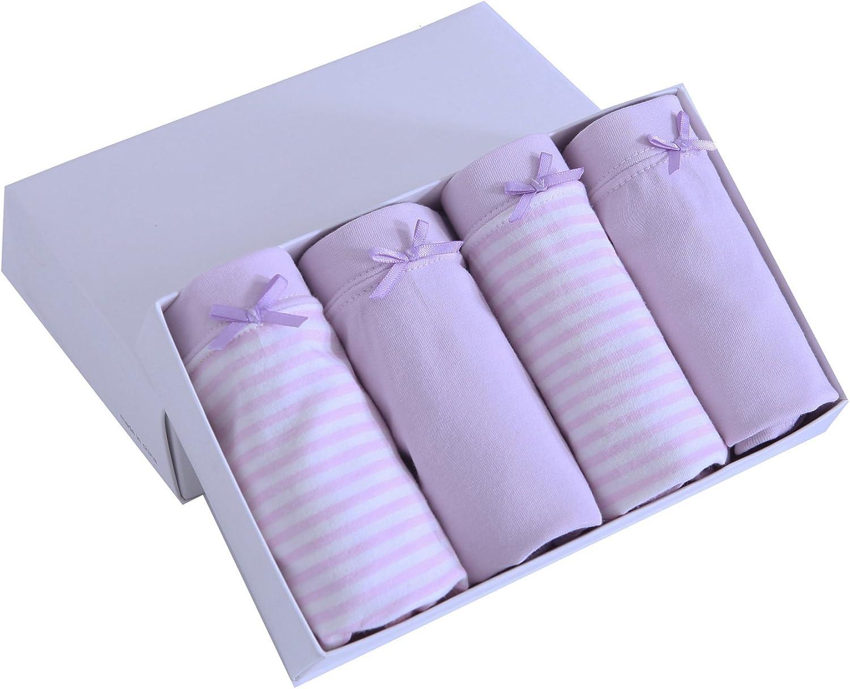 Multicolor ABClothing Culotte in Cotone Morbido da Bambina da 4 Paia per Bambini