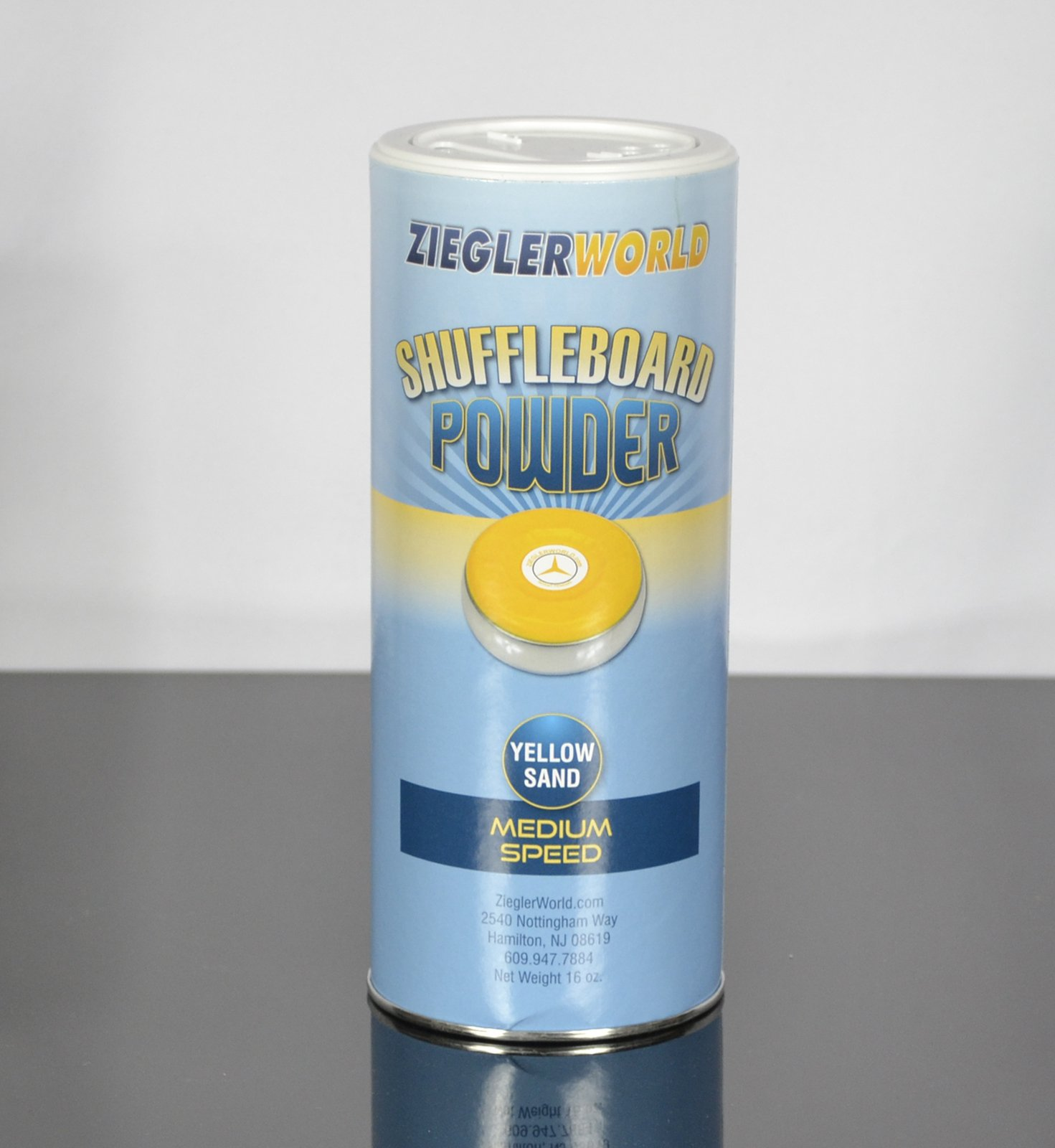 Zieglerworld 1 can Yellow Sand Table Shuffleboard Powder Wax - Medium Speed by Zieglerworld