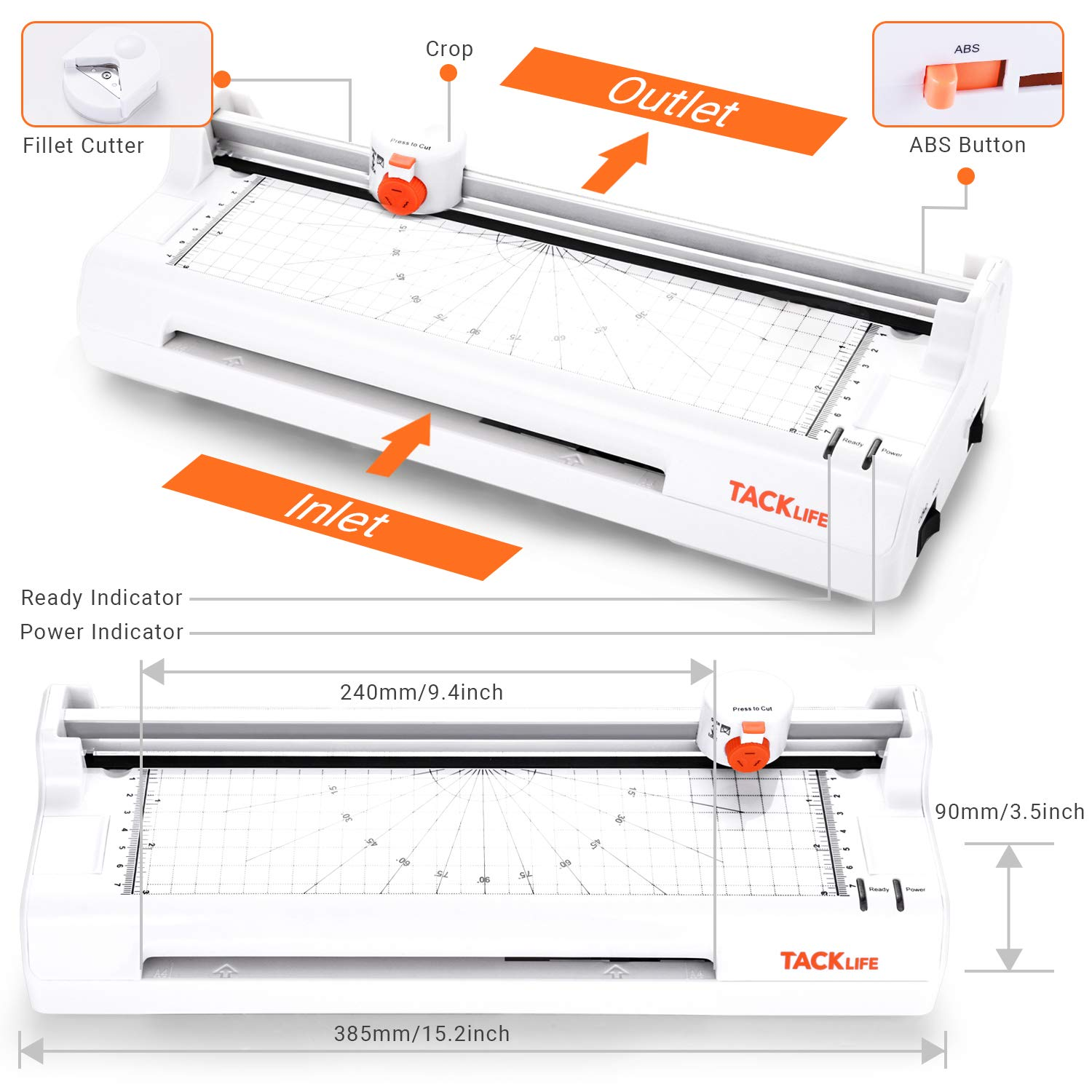 20 Laminator Pouches A4 A5 A6 A7 Hot and Cold Laminator with Paper Controller MTL02 ABS Cutter Laminator for Home Office Mini Laminating Machine Laminating Speed 330mm Laminator 2 Rollers