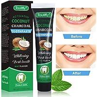 Natural Coconut Aktivkohle Zahnaufhellung Zahnpasta, Charcoal Natural White Tooth Lighting Frische Breath Bleaching, Teeth Whitening mit Aktivkohle Zahnpasta ohne schädliche Zusatzstoffe zu schützen (Pattern 1)