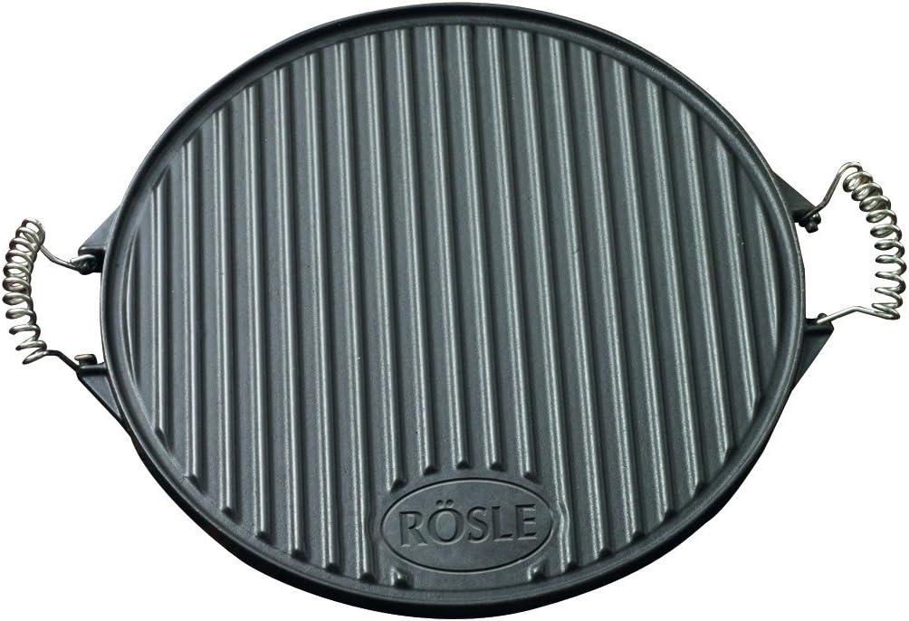 Rösle RS25075 - Placa para Barbacoa (Redonda, de fundición, 40 cm)