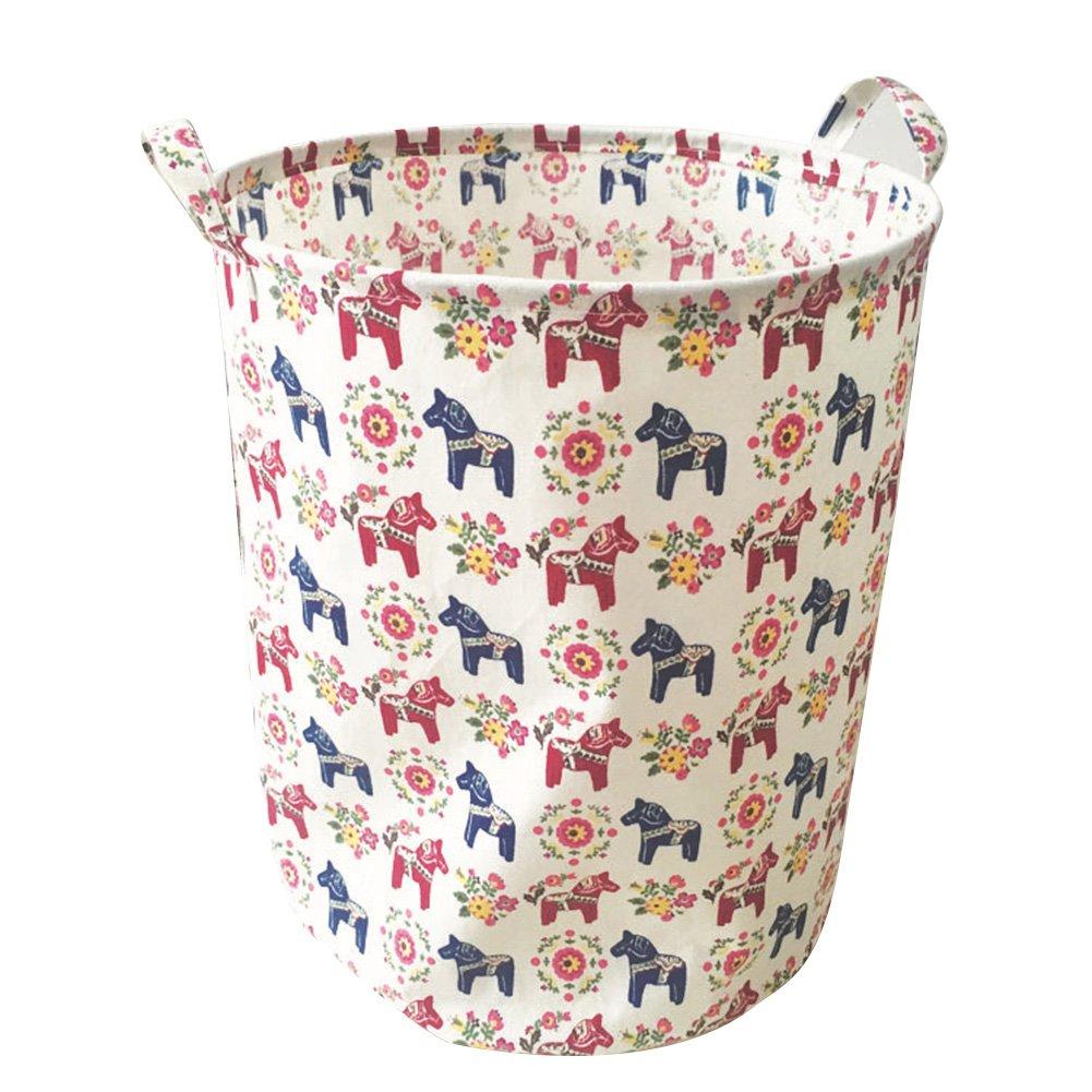 Aihome - Cesto pieghevole per giocattoli dei bambini, cesto per biancheria sporca, vestiti, cestino appeso, cestino per autp, contenitore organizer per camerette, lavanderie, armadi, camere da letto, dormitori, auto B