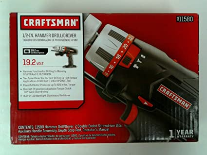 craftsman 1 2 inch metal chuck 19 2 volt hammer drill driver c3 rh amazon com Craftsman Lawn Tractor Manual Craftsman Snow Blower Manuals 24788190 0