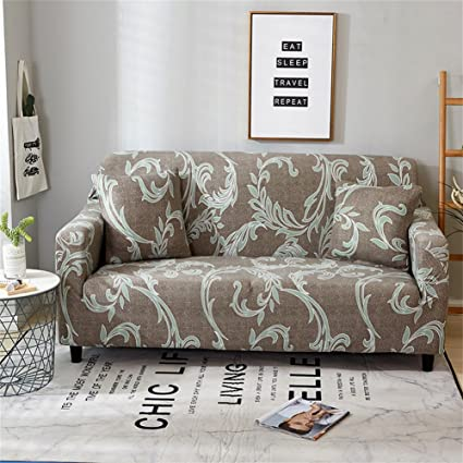 FORCHEER Couch Covers 1 Piece Stretch Printed Sofa Slipcover Polyester  Spandex Loveseat Cover Sofa Chair