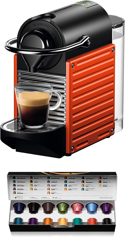 Krups Nespresso Pixie XN3045K Macchina per caffè Espresso, Ricette Programmabili, 1260 W, Rossa, 0.7 Litri, Rosso