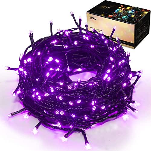 Halloween Decoration String Lights – 25m 82ft 220 LEDs 8 Modes Memory Function End-to-End Extendable Plug in Waterproof Fairy Lights for Thanksgiving Day Halloween Wedding Patio Home Room – Purple
