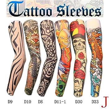 Amazon.com : Airume Elastic Tattoo Sleeves Maquiagem ...
