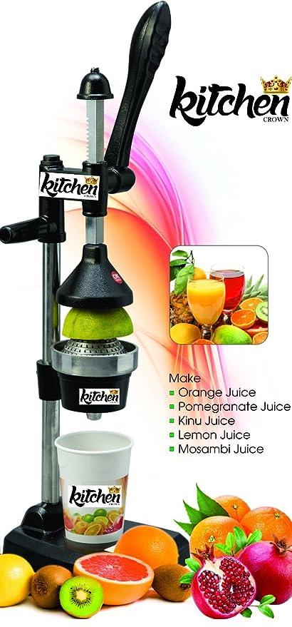 Kitchen Crown Aluminium Hand Press Juicer (Black)
