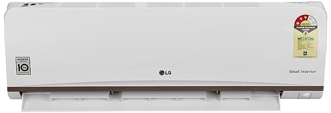 LG 1 Ton 3 Star Inverter Split AC  JS Q12CPXD, White