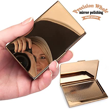 Amazon yobansa stainless steel rose gold business card holder yobansa stainless steel rose gold business card holder business card case creidt card holders for men colourmoves