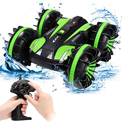 SGILE RC Stunt Car Toy, Remote Control Car with 2 Sided 360 Rotation for Boy Kids Girl, Black: Toys & Games [5Bkhe0804468]