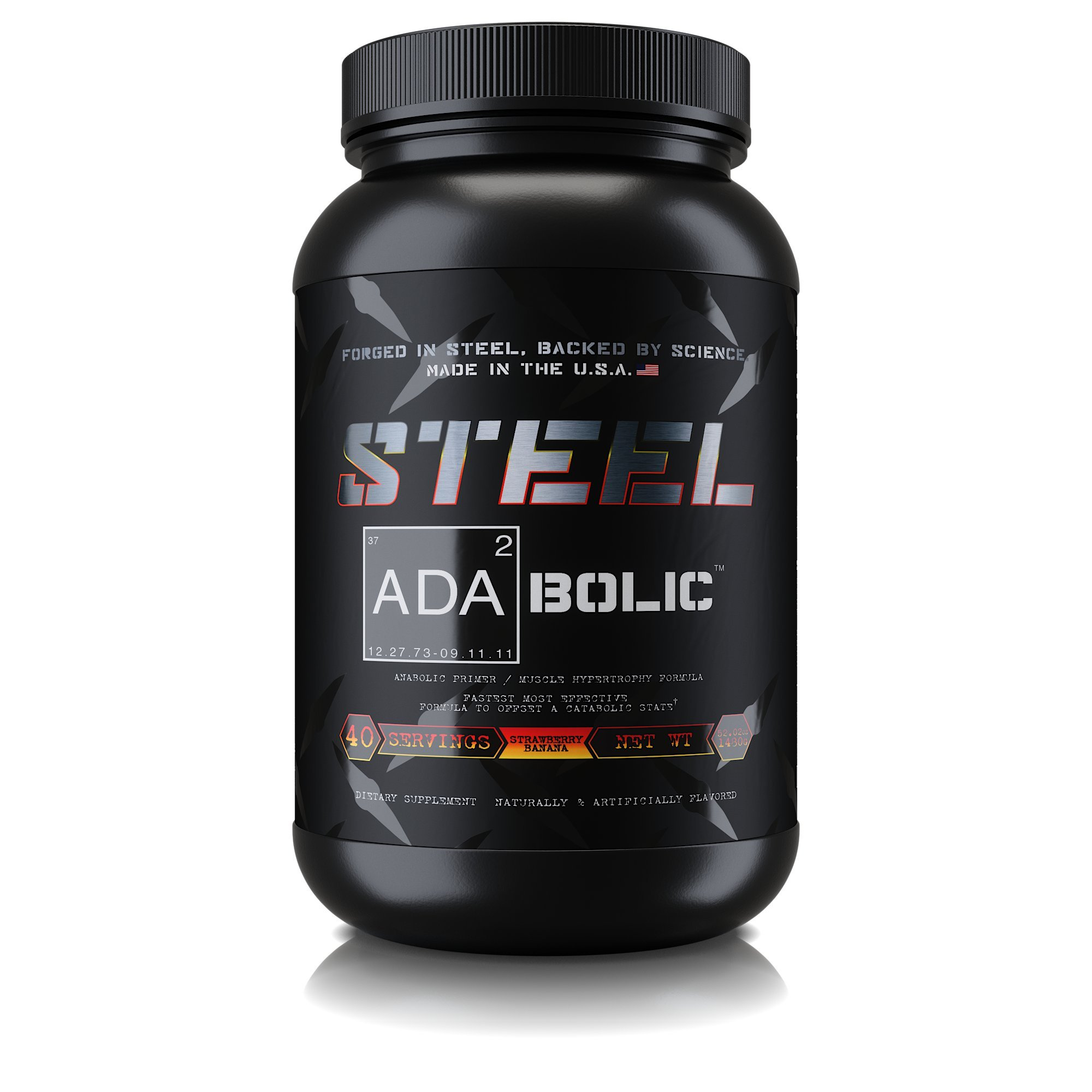 35e570d23 Steel Supplements ADA2Bolic Workout Recovery Aid Powder Restores Muscle  Glycogen 3.75lbs (Strawberry Banana)