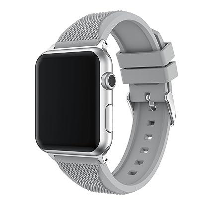 para Apple watch Correa 38mm/42mm, TOPsic Nuevo Silicona suave de estilo deportivo Reemplazo