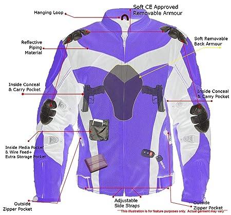 Amazon.com: Xelement CF6019 Invasion Chaqueta de motocicleta ...