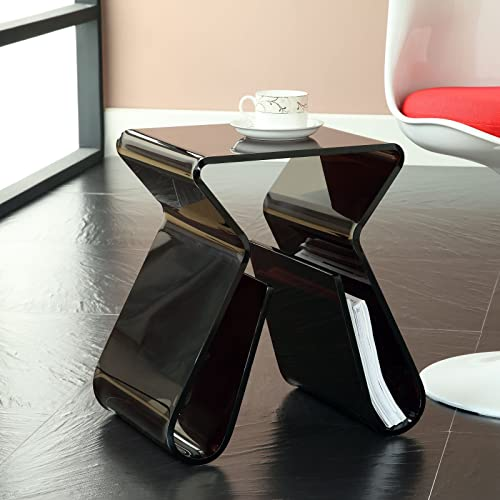 Modway Magazine Acrylic Side Table in Black