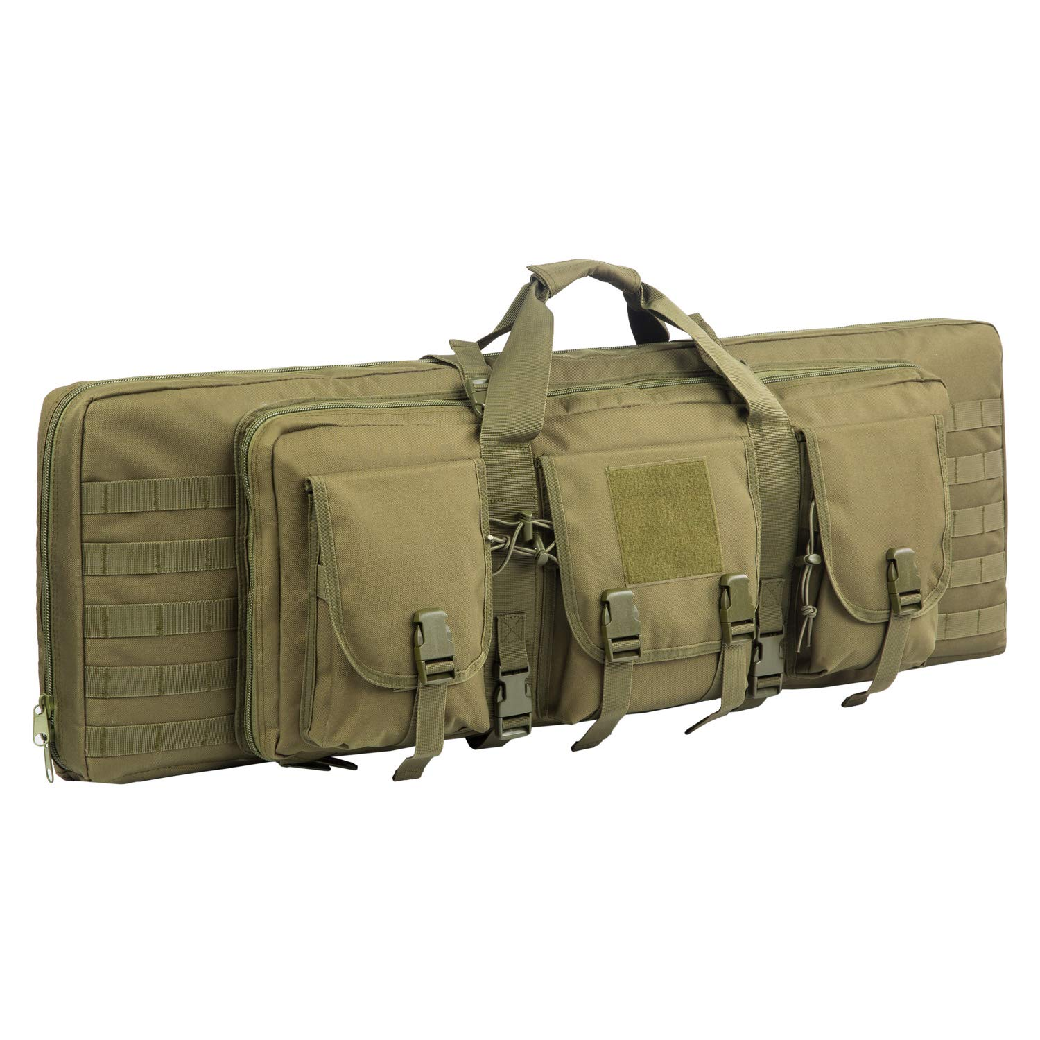 AK47/AR16 Tactical Rifle Case Double Carbine Bag Outdoor Molle Deluxe Double Rifle Gun Bag Padded Long Gun Case & Rifle Storage Backpack(2 Sizes and 6 Colors to chooese from) (O.D. Green, 42inch) by XWLSPORT