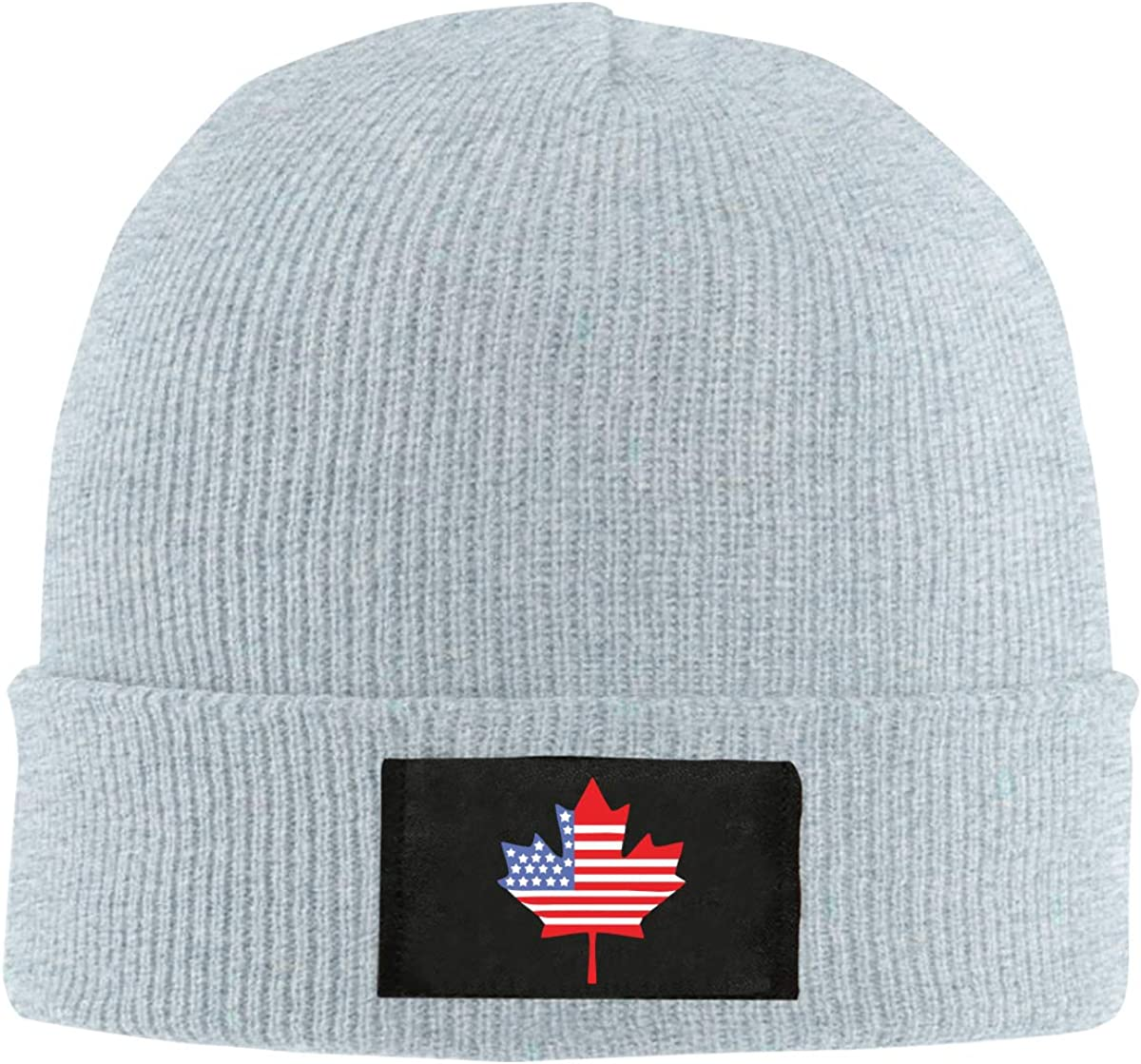 Canadian American Flag Men /& Womens Knitted Hat Soft Fleece Beanie Hat