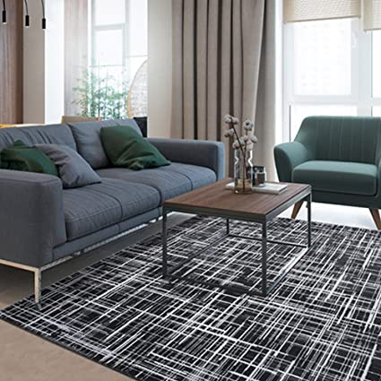 Sensational Amazon Com Csq Stripes Rug Black White Abstract Living Gmtry Best Dining Table And Chair Ideas Images Gmtryco