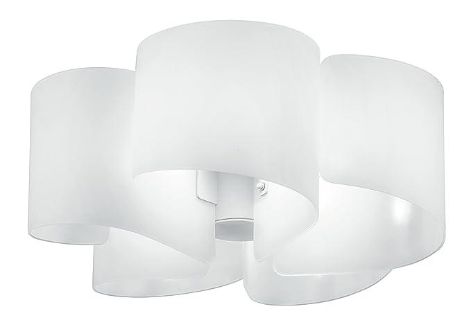 Plafoniere Con Lampade Led E27 : Fan europe plafoniera con cinque petali e w bianco
