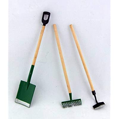 Dollhouse Miniature 1:12 Scale 3 Pc Garden Tools SET #T8107: Toys & Games
