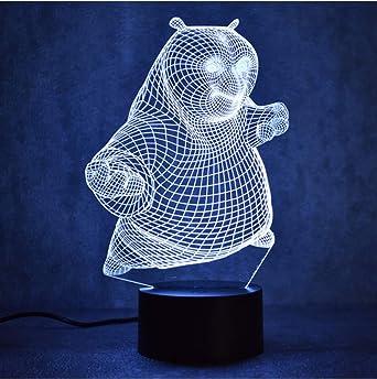 Creativo 3D Usb Llevó La Lámpara De Mesa De Luz Nocturna Visual ...