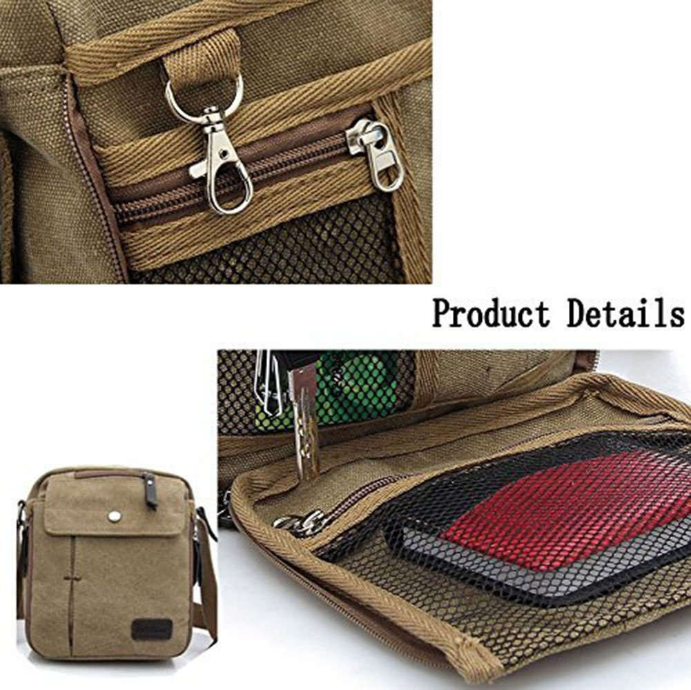 Canvas Small Messenger Casual Shoulder Travel Organizer mens crossbody bag