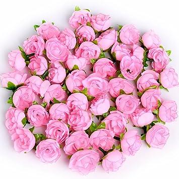 Amazon supla 50pcs artificial silk rose buds mini flower heads supla 50pcs artificial silk rose buds mini flower heads for diy wreath gift box scrapbooking craft mightylinksfo