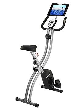 Innova salud y Fitness bicicleta vertical plegable (con soporte para iPad/Tablet Android