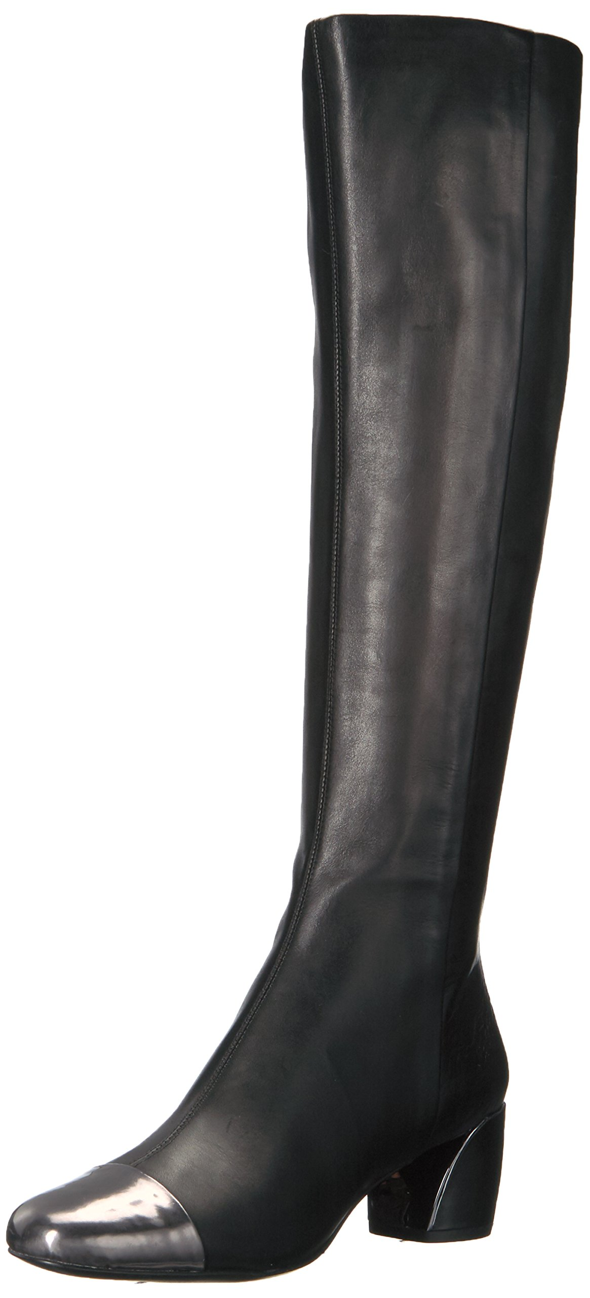 Nine West Women's Jatoba Knee High Boot, Black/Pewter, 6.5 Medium US