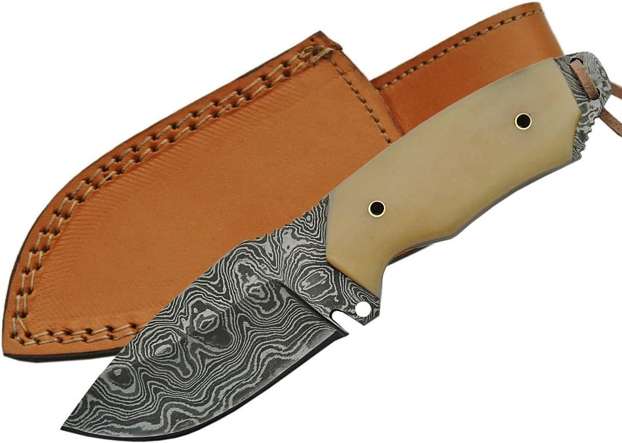 Rite Edge Caping Damascus Knife, 6.25