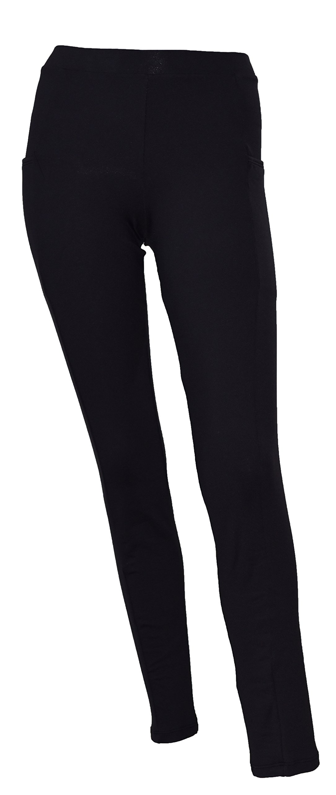 Private Island Hawaii Women UV Rash Guard Leggings Long Pants Surfing Sun Protection Swimming Suit Wide Color Scheme WTH Both Side Pocket Black X-Large