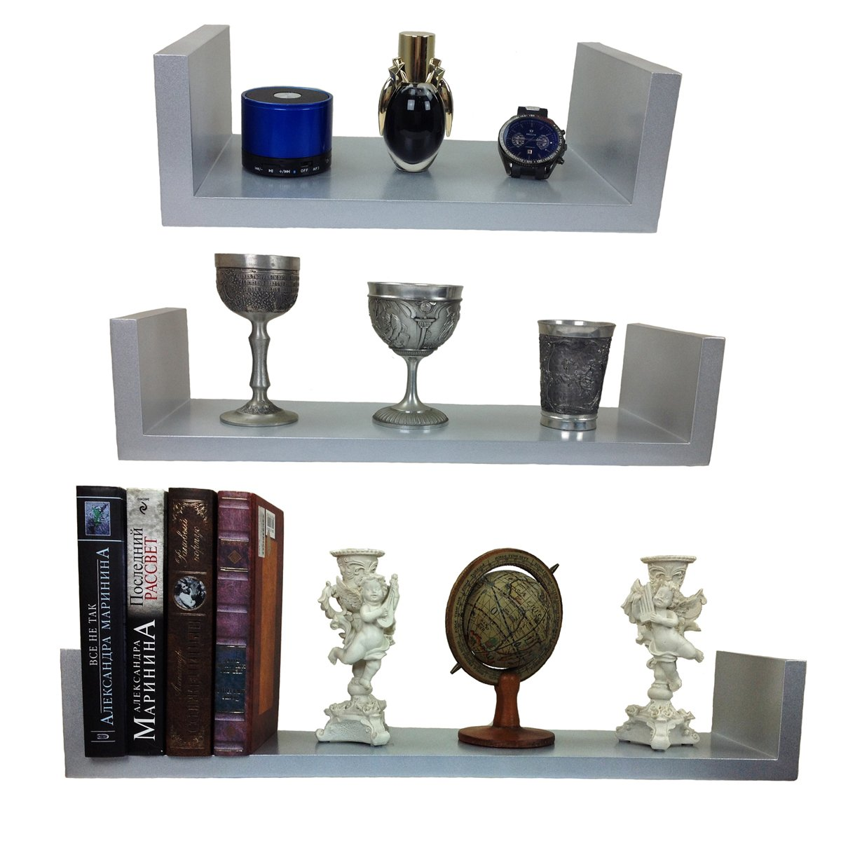 Wandregal bücher design  3 er Set Design Wandregal Bücher CD Regal Cube in verschiedene ...