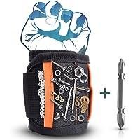 Magnetisches Armband aus atmungsaktivem Material Wergzeug Armband Magnetarmband mit 5 leistungsstarken Magnete um Schraube Nägel einfach halten