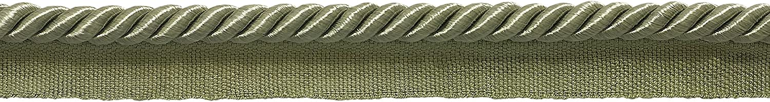 30 Ft // 9.1 Meters Style# 0516SPK Color: SAGE Green D/ÉCOPRO 10 Yard Value Pack of Medium 5//16 inch Basic Trim Lip Cord L83