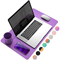 YSAGi Multifunctional Office Desk Pad, Ultra Thin Waterproof PU Leather Mouse Pad, Dual Use Desk Writing Mat for Office…