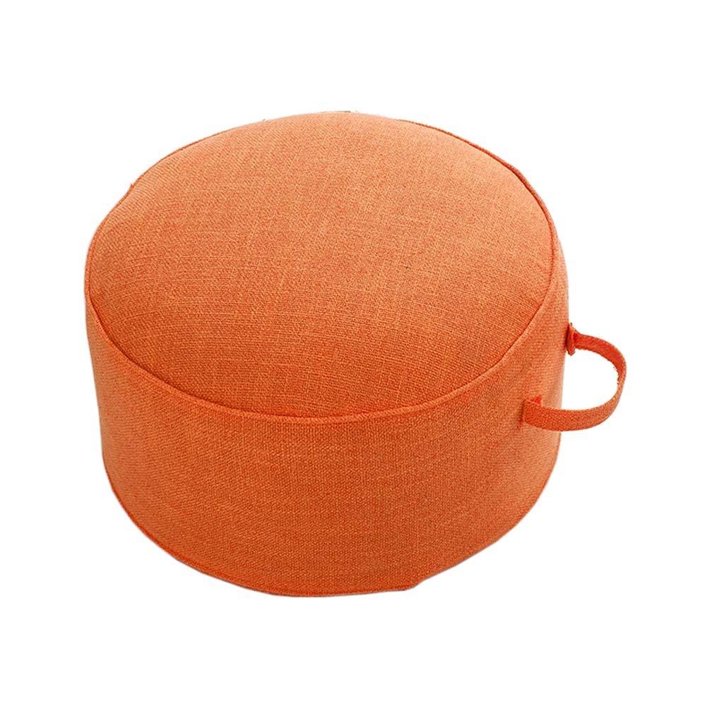 ヨガ瞑想畳床枕シートクッションZafu足スツール、オレンジ   B078N4B8B4