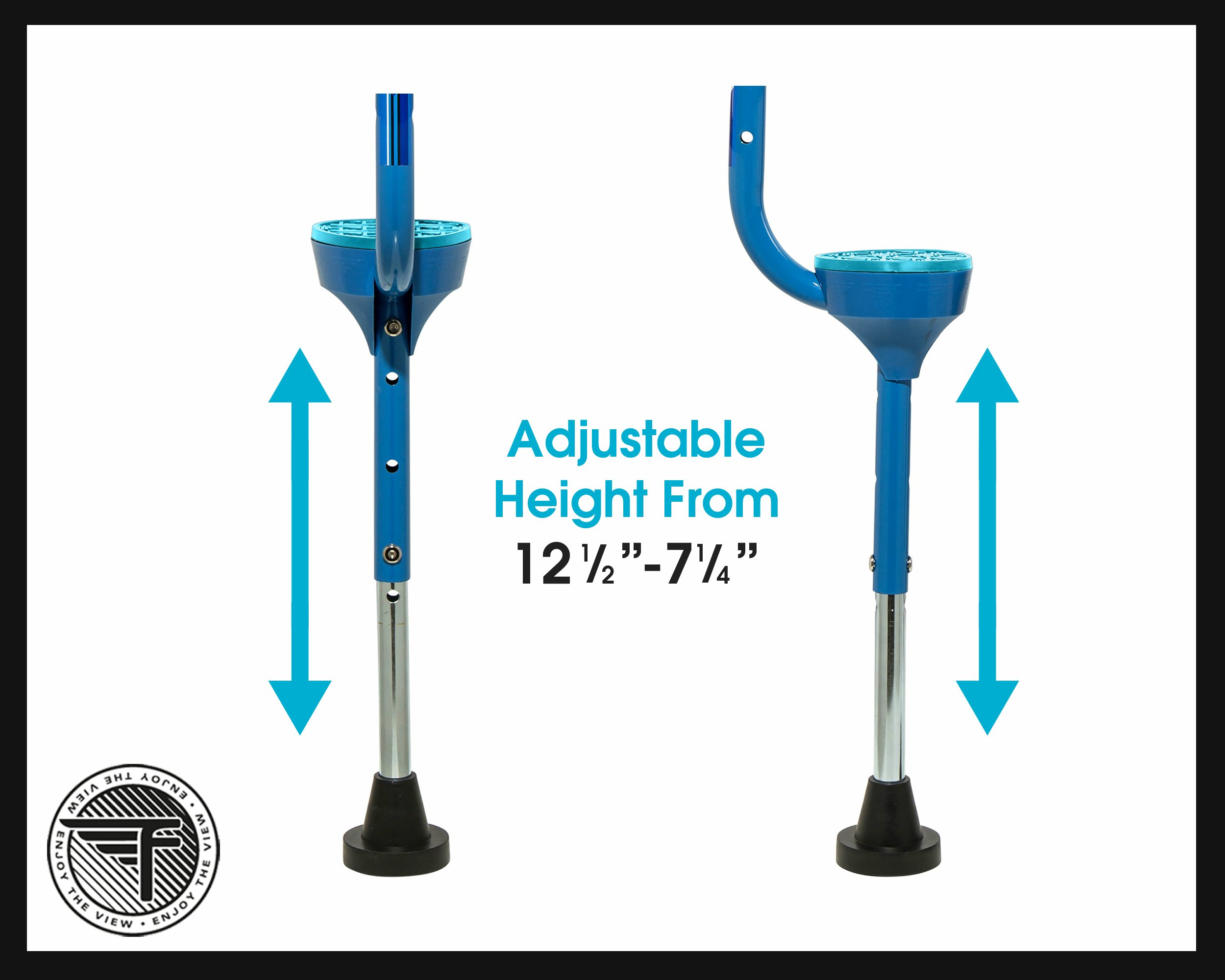 Flybar Maverick Walking Stilts for Kids Ages 5 +, Weights Up to 190 Lbs - Adjustable Foam Handles with Wide Stance Foot Pegs - Fun Outdoor Toys for Girls & Boys by Flybar (Image #4)