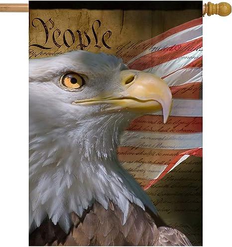 American Flag Bald Eagle Forever Free Garden Yard Flag
