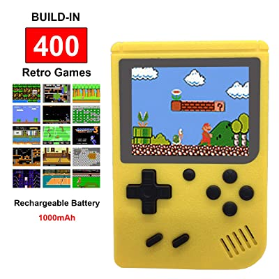 Mini Retro Handheld FC Games Consoles ,Built-in 400 Classic Game, Portable Gameboy 3 Inch LCD Screen TV Output ,Good Gifts for Kids Boys Girls Men Women (Games Consoles Yellow): Toys & Games