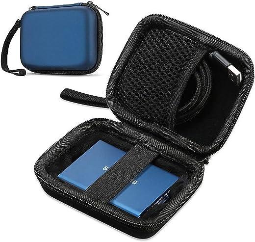 جراب ProCase لهاتف Samsung T5 T3 SSD, جراب صلب مضغوط مضاد للصدمات لهاتف T5 / T3 / T1 جراب صلب 250 جيجابايت 500 جيجابايت 1 تيرابايت يو إس بي 3.1 نوع C - أزرق داكن