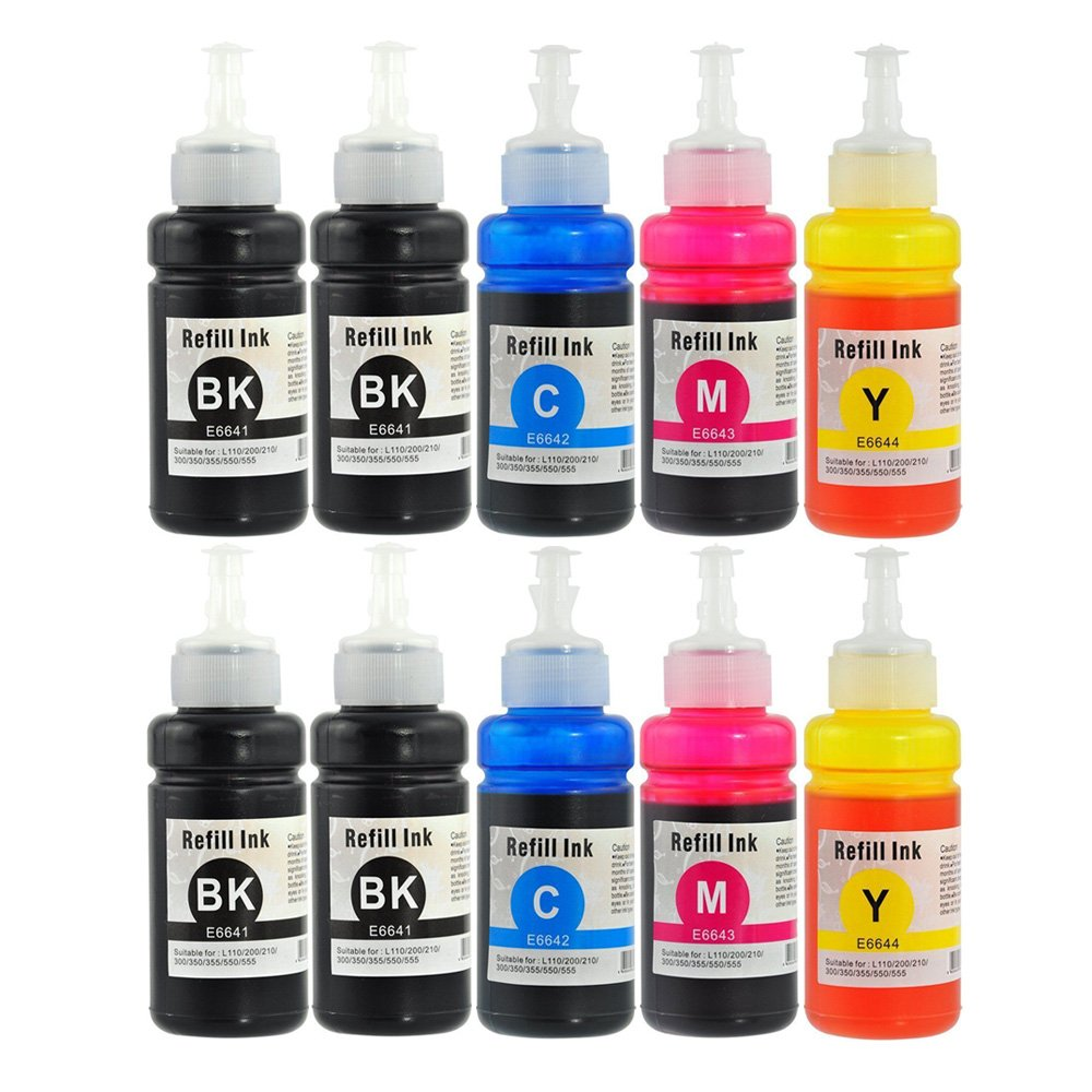 yatunink 10 Pack 70 ml botellas (negro T6641, T6642, T6643 ...