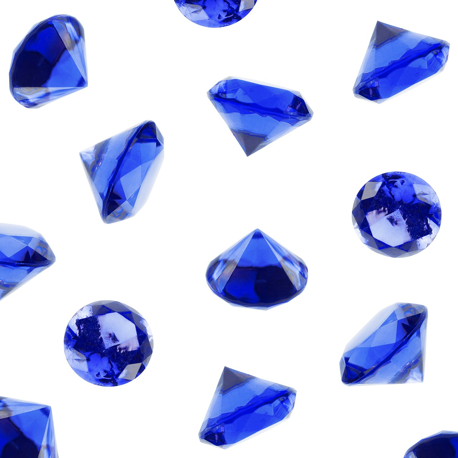 Acrylic Color Faux Round Diamond Crystals Treasure Gems for Table Scatters, Vase Fillers, Event, Wedding, Arts & Crafts (1 Pound, 240 Pieces) by Super Z Outlet (Royal Blue)