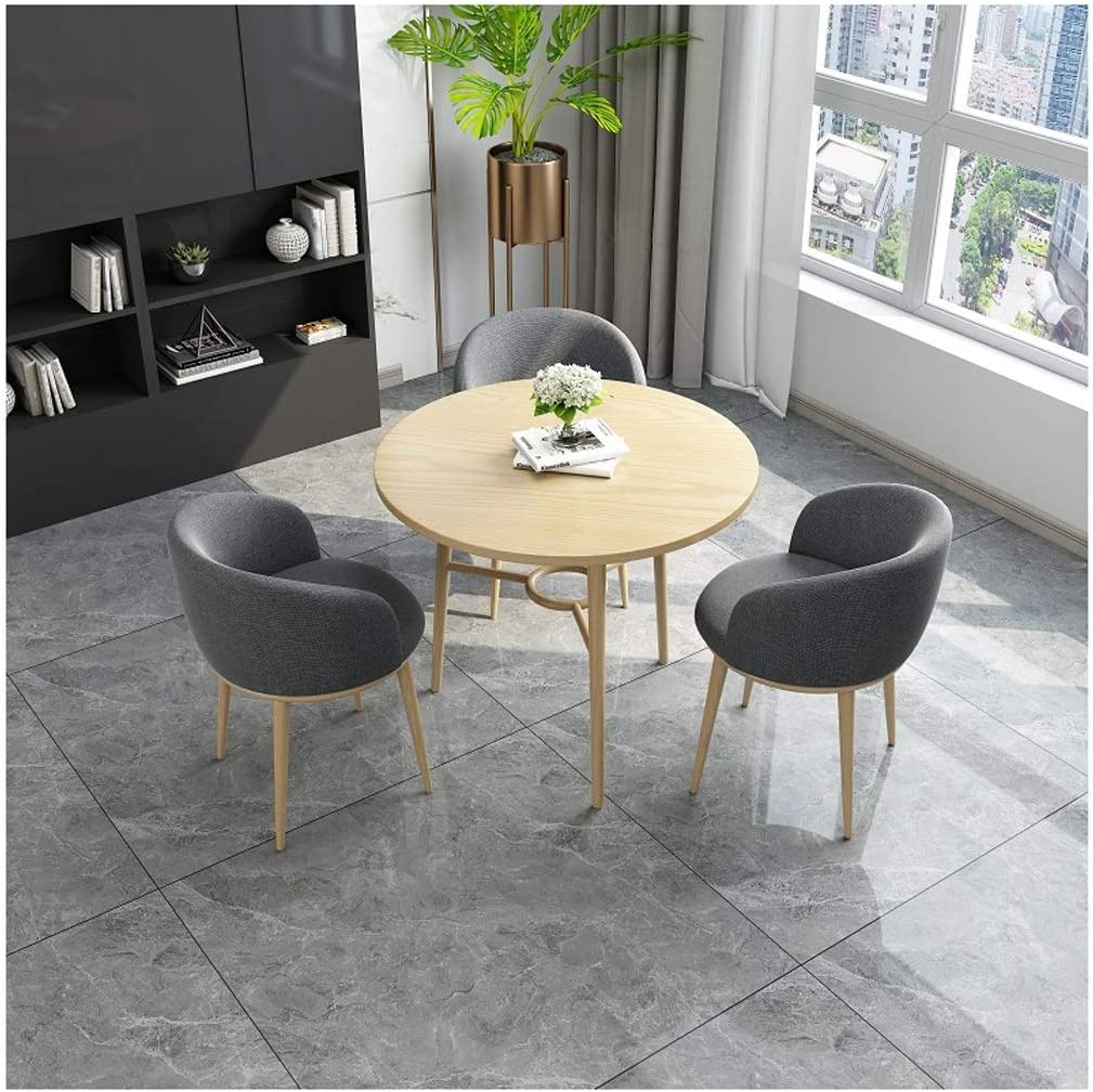 Table And Chair Combination Creative Simple Small Round Table Home Living Room Bedroom Hotel Reception Negotiation Room Meeting Room Office Chess Room Leisure 1 Table 3 Chairs Leather Restaurant Kitch Amazon Co Uk Kitchen