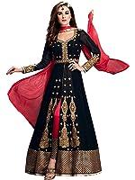 Mordenfab Women's Dress Material(gar_Black_Free Size)
