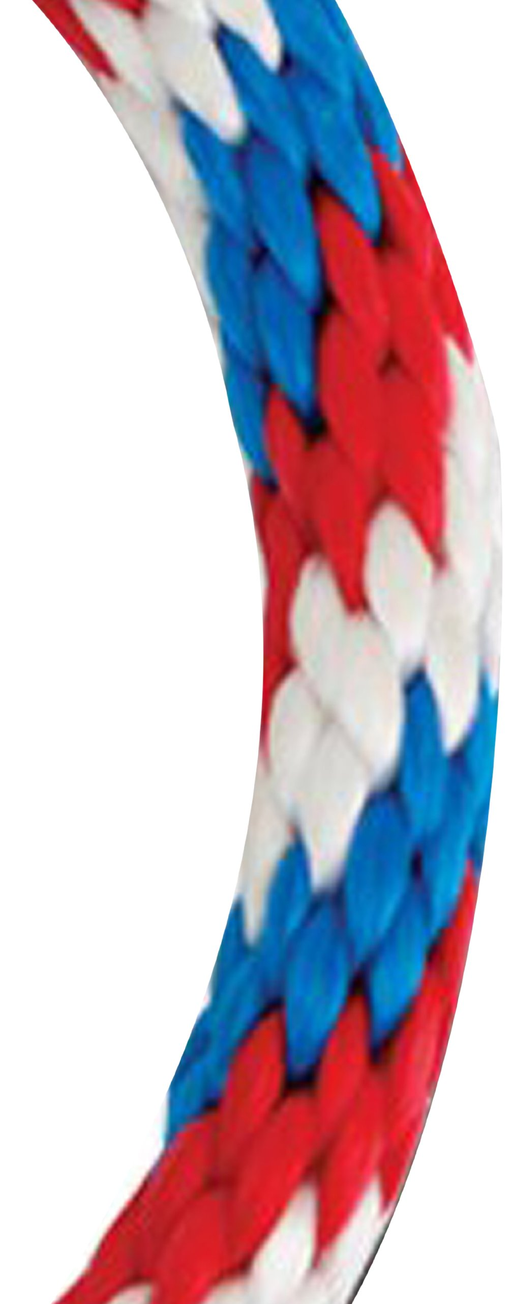 Koch 5070945 5/8 by 140-Feet Solid Braid Rope, Red/White/Blue