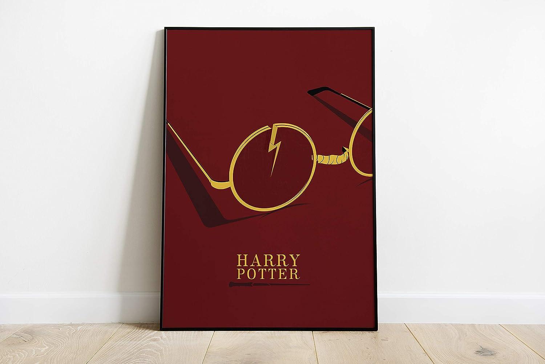 Harry Potter Minimal Movie Poster A5,A4,A3,A2,A1 Minimalist Film ...