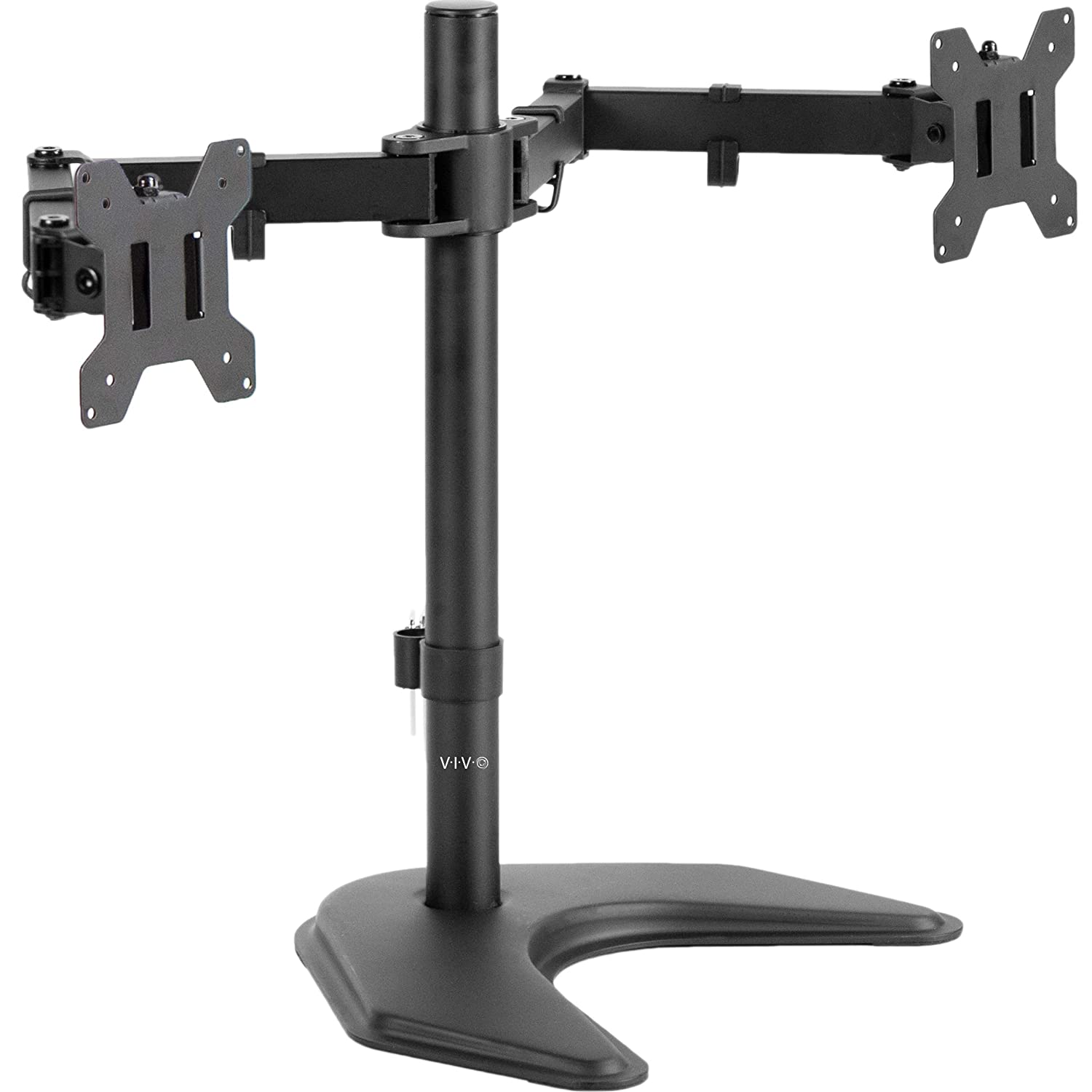 VIVO Full Motion Dual Monitor Desk Mount VESA Stand with Articulating Double Center Arm Joint | Holds Two 13 to 30 Screens (STAND-V102)