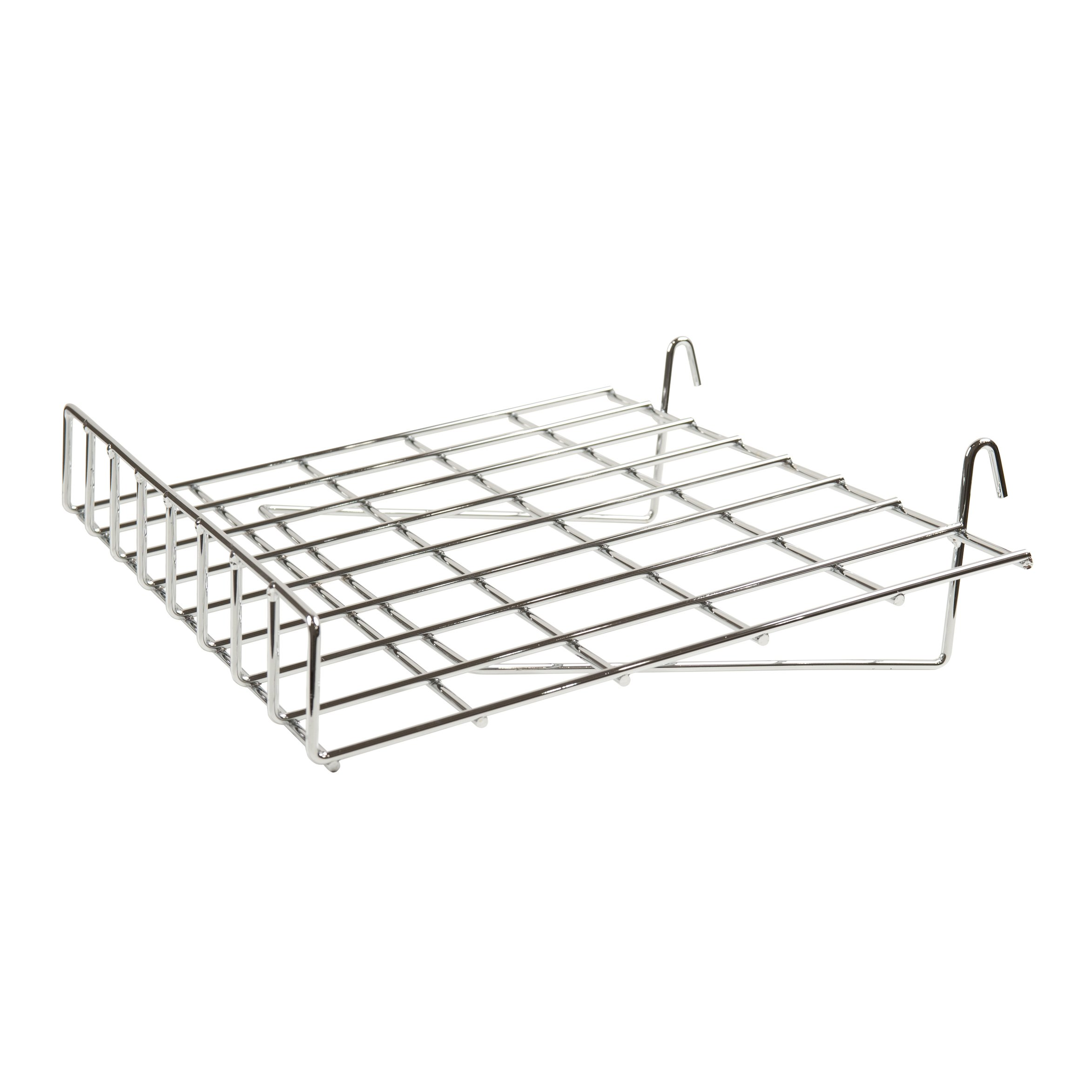 Econoco GWS/91 Slant Shelf with Front Lip, 15'' x 24'' (Pack of 4)