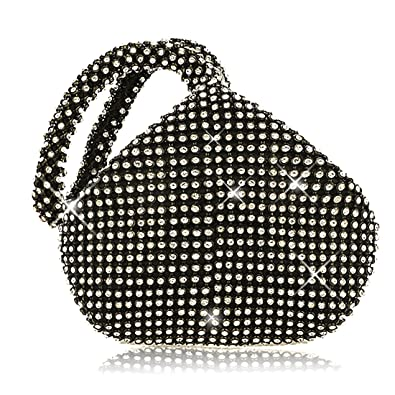 Evening Clutches Sparkly Mini Handbag Glitter Crystal Diamante Pouch Shaped  Wrist Hand Bag Purse Bag ( 8d59148b8fd4a